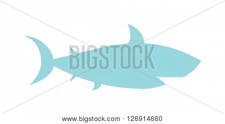 Cartoon Shark silhouette vector illustration