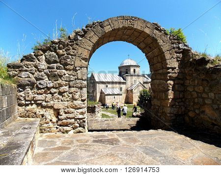 Monastery Gradac endowment of Helen of Anjou in Serbia ** Note: Visible grain at 100%, best at smaller sizes