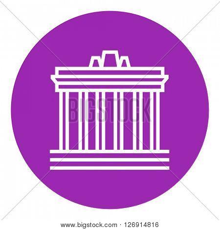 Acropolis of Athens line icon.
