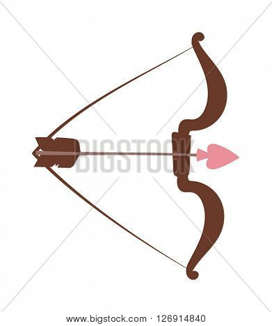 Cupid bow and arrow vector illustration