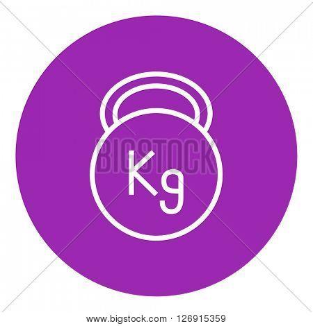 Kettlebell line icon.