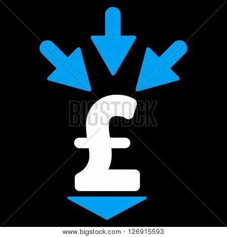 Integrate Pound Payment vector icon. Integrate Pound Payment icon symbol. Integrate Pound Payment icon image. Integrate Pound Payment icon picture. Integrate Pound Payment pictogram.