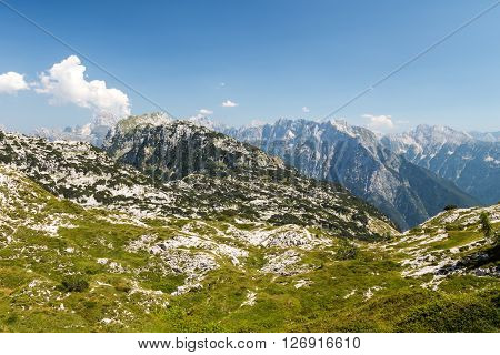 Mountain Peak In A Summer Day