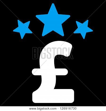Pound Business Stars vector icon. Pound Business Stars icon symbol. Pound Business Stars icon image. Pound Business Stars icon picture. Pound Business Stars pictogram. Flat pound business stars icon.