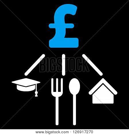 Pound Consumption Pattern vector icon. Pound Consumption Pattern icon symbol. Pound Consumption Pattern icon image. Pound Consumption Pattern icon picture. Pound Consumption Pattern pictogram.