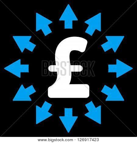 Pound Distribution vector icon. Pound Distribution icon symbol.