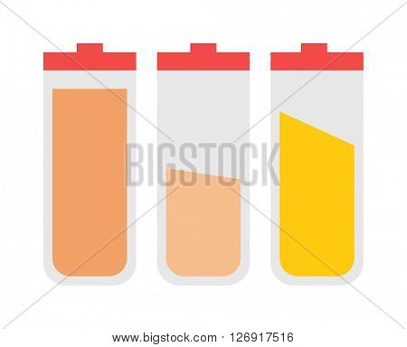 Jar with cooking spices and ingredients, pepper, garlic, paprika, curry vector illustration.