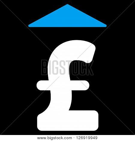 Pound Up vector icon. Pound Up icon symbol. Pound Up icon image. Pound Up icon picture. Pound Up pictogram. Flat pound up icon. Isolated pound up icon graphic. Pound Up icon illustration.