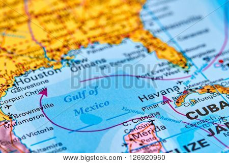 Gulf Of Mexico On The Map