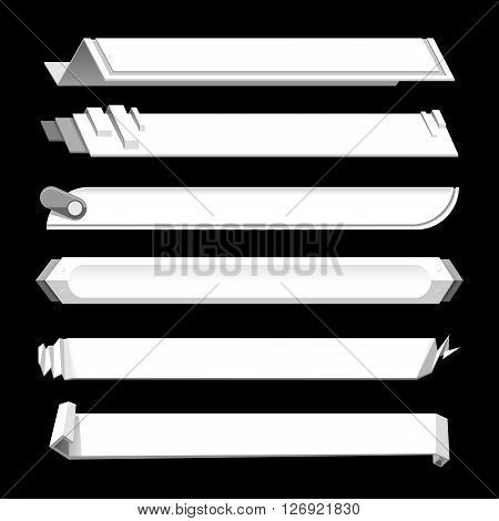 White lower third banner bar screen broadcast - vector illustration