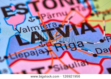 Latvia On The Map