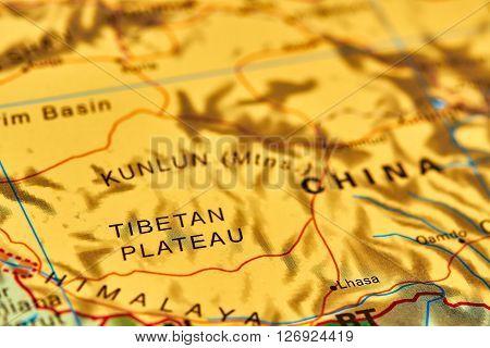 Tibetan Plateau On The Map