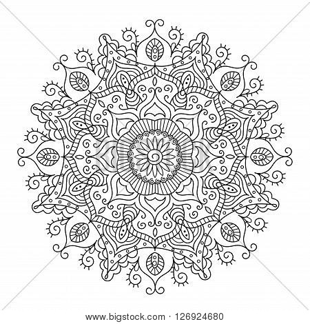 Beautiful Ethnic Mandala. Vector Round Ornament Pattern. Great choice for adult coloring page, kaleidoscope, medallion and other kind of design