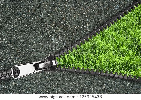 zipper overlooks the spring field.  It can be used as a background