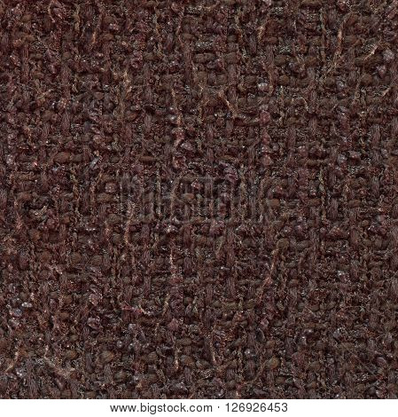 Dark gray red woven woolen fabric texture. Complicated melange. Close up fragment of the top view.