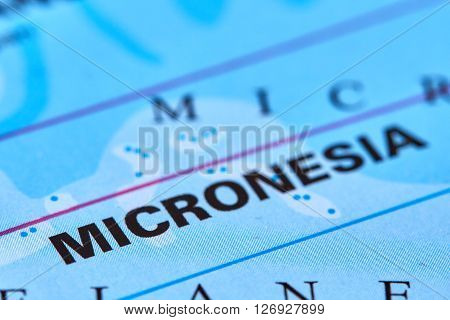 Micronesia Islads Marked on the World Map