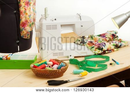The Sewing Machine Costs On A Table