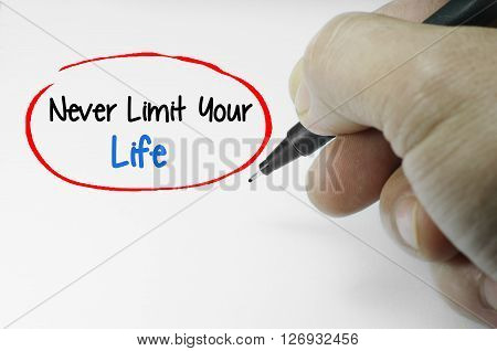Never Limit Your Life Word