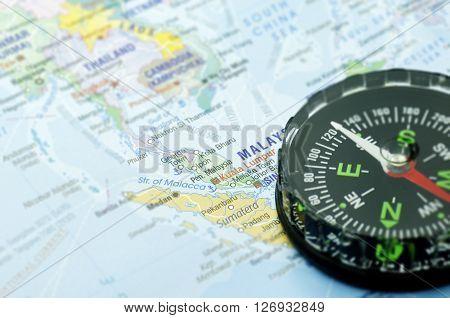 Maps and Compass Kuala Lumpur Travel destination