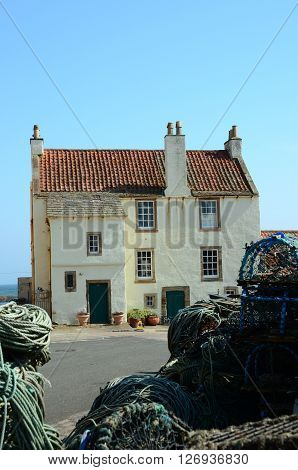 Old architecture at the harbour in Pittenweem