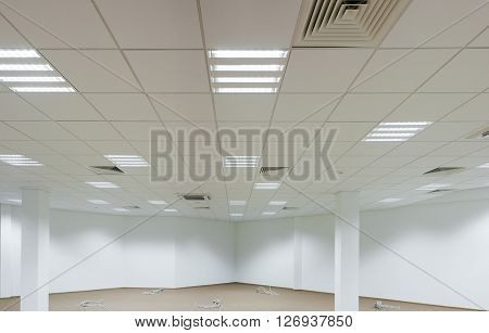 Office, repair and finishing facilities. Ceiling lighting and ventilation. Utilities.