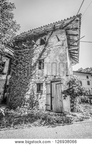 Italy, Udine, San Leonardo del Friuli - An old house inhabited from the Second World War