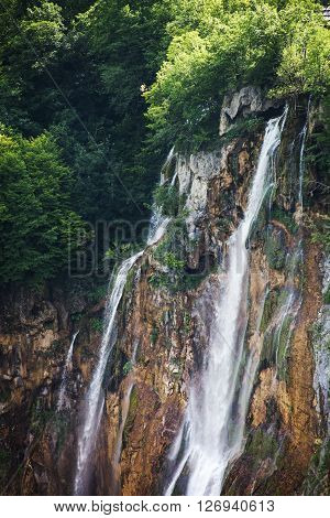 Plitvice Lakes National Park is  the largest national park in Croatia.