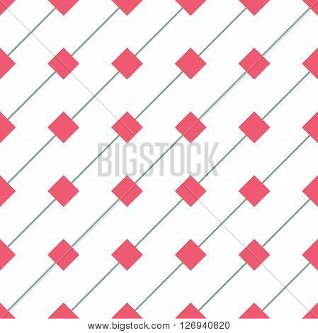 Rhomb vector seamless pattern. Geometric seamless texture with rhombs and diagonal lines on white background. Rhombic wallpaper design. EPS8 vector illustration. Pattern swatch included.