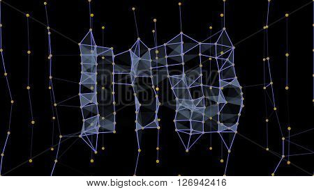 Futuristic abstract wireframe geometry structure 10862. From a series of high resolution technology illustrations.