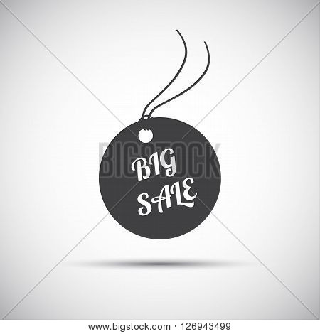 Simple big sale label vector icon for your business