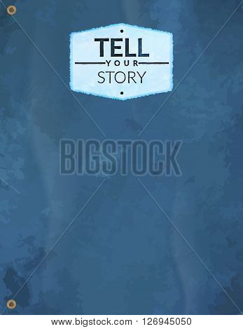 Abstract modern template book cover - tell your story