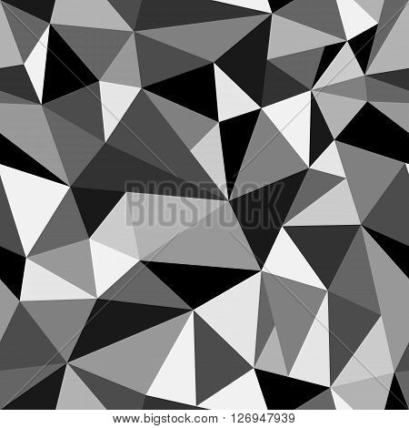Abstract Geometric Rumpled Triangular Vector Illustration Graphic Background. Digital Vector Illustr