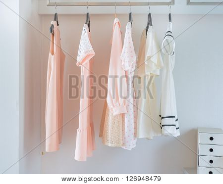 White Closet With Dress Hanging
