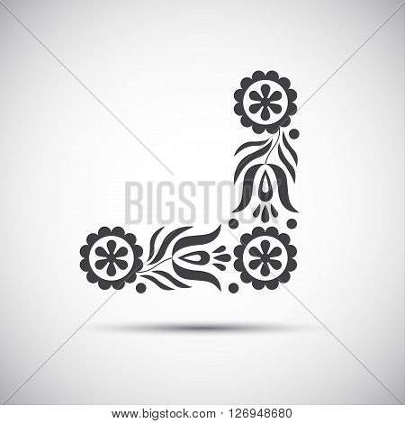 Traditional folk patterns vector illustration of simple folk symbol