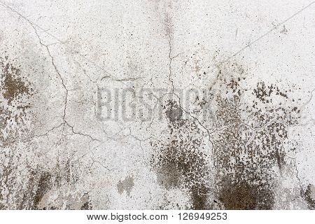 White Dirty Wall With Cracks As Background