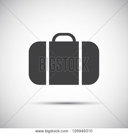 Simple grey suitcase icon vector illustration for your website and holiday infographic