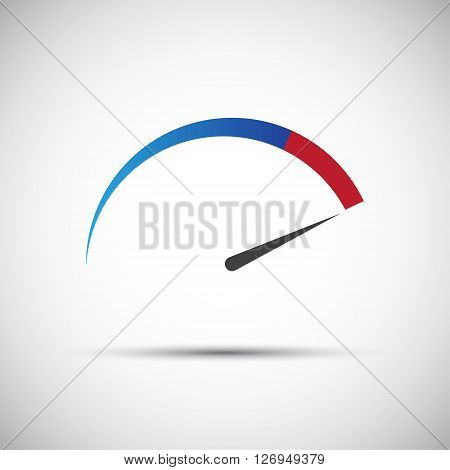 Simple vector thermometer tachometer speedometer icon illustration