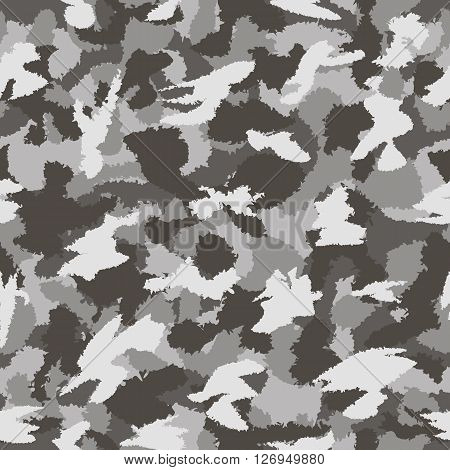 War Grey Urban Camouflage Seamless Vector Pattern. Can Be Used For Wallpaper, Pattern Fills, Web Pag
