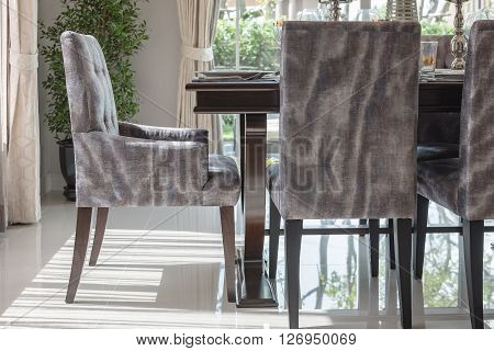 Modern Chair With Wooden Dinning Table