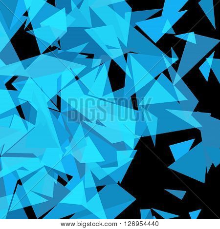 Abstract Triangle Geometrical Background. Vector Illustration