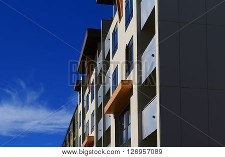 a picture of an exterior modern apartment/townhouse