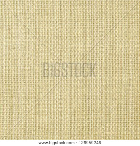 Champagne yellow fabric texture. Close up top view.