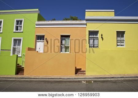 Bo Kaap in a district of Cape Town, Western Cape Province, South Africa