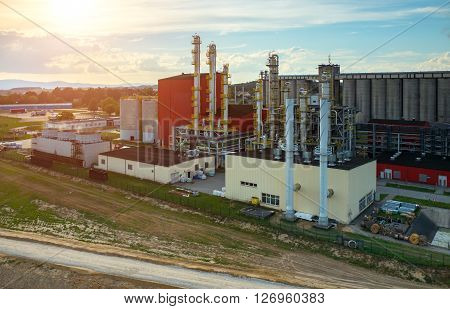 Sunset Over Biofuel Factory