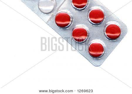 Medical Pills Blister Close-Up