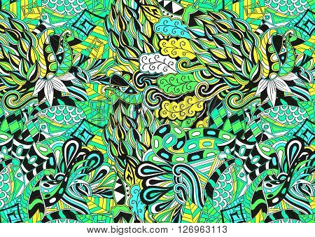 A1, A2, A3, A4 Paper Proportions. Tracery Loops, Doodle Wind Pattern. Mehendi Paisley, Stem, Spiral,