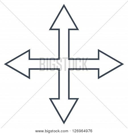 Maximize Arrows vector icon. Style is outline icon symbol, smooth black color, white background.
