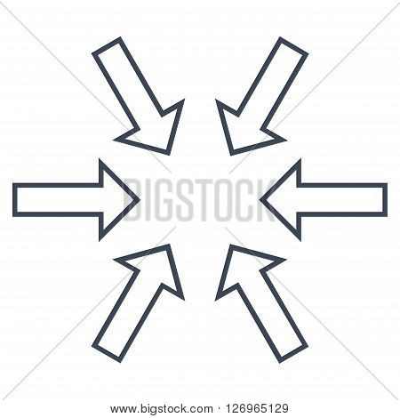 Pressure Arrows vector icon. Style is thin line icon symbol, smooth black color, white background.