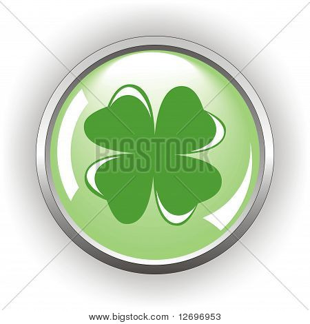 clover or shamrock button  for St Patrick's day