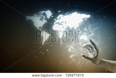 Touching world map